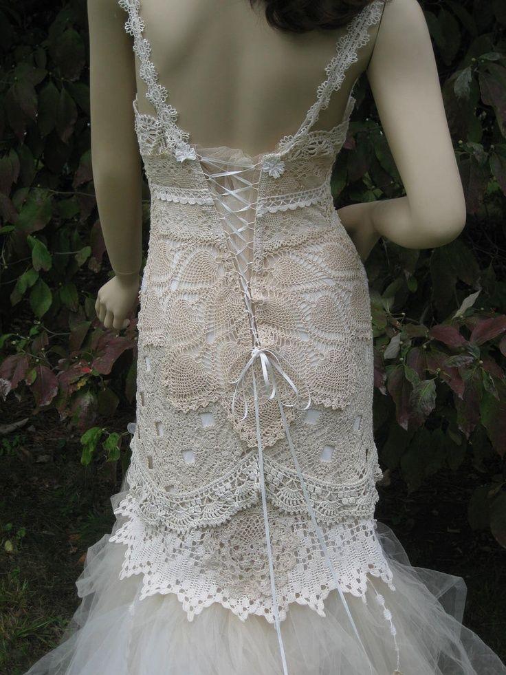 22 Best Crochet Wedding Dress Images On Pinterest