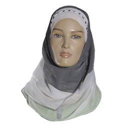 Hijab - Igal Style - White & Grey http://www.muslimbase.com/clothing/hijabs/igal-hijab/hijab-igal-style-white-grey-p-4510.html