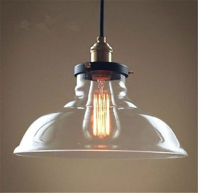 Modern Led Glass Pendant Ceiling Vintage Light Fixture Chandelier Edison Lamp