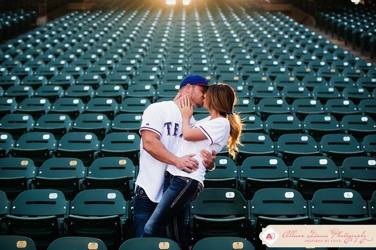 Texas Rangers engagement photos--so cute!