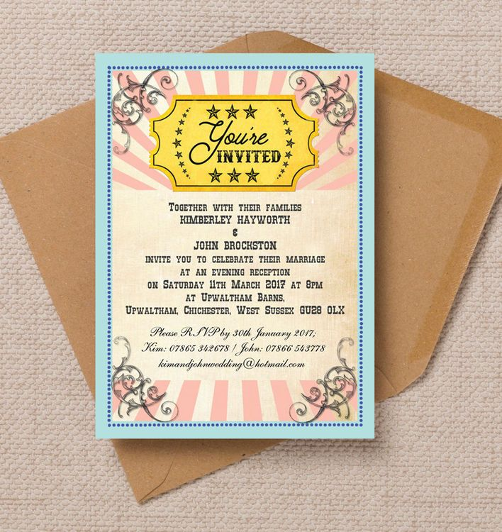 41 best beautiful evening wedding reception invitations images on circus extravaganza evening reception invitation stopboris Choice Image