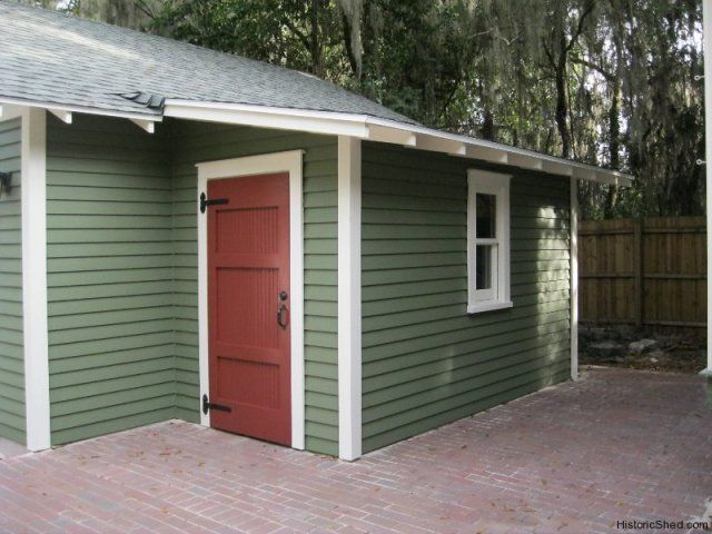 6x12 shed roof workshop attached to garage in floridaby for Shed roof garage