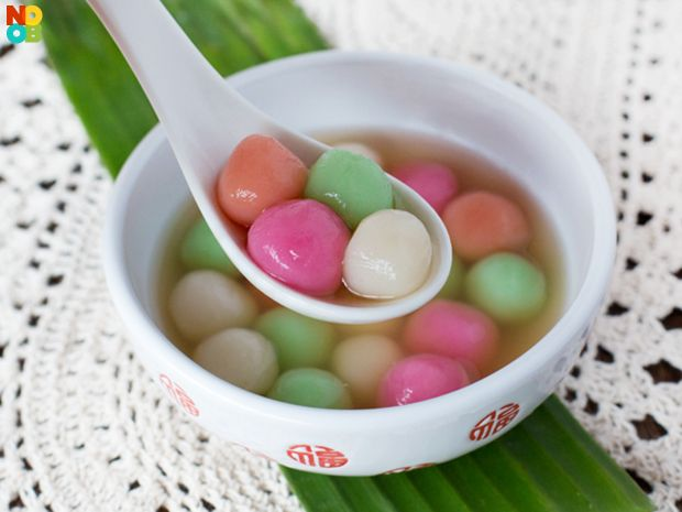 Tang Yuan (湯圓, glutinous rice balls), a homophone of and frequent metaphor for family union, are traditionally eaten during Yuanxiao, or the Lantern Festival. They are also traditionally served during the Chinese Winter Solstice Festival or any occasions of family/relatives re-union such as wedding ceremony with both the paternal and maternal family.