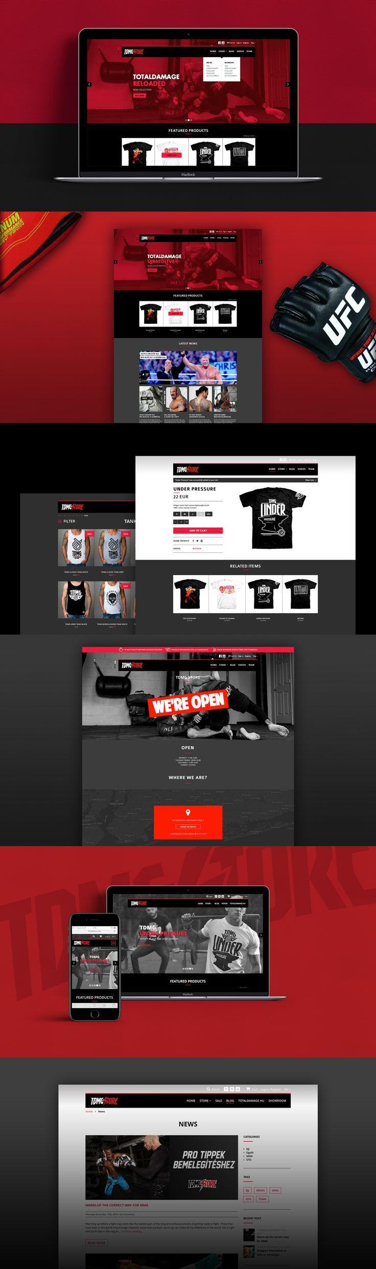 TDMG webshop #web #website #webshop #webdesign #ui #ux #userinterface #interactiondesign #graphic #design #tdmg #karate #mma #ufc #kickbox #box #jiujitsu #figth #fighter