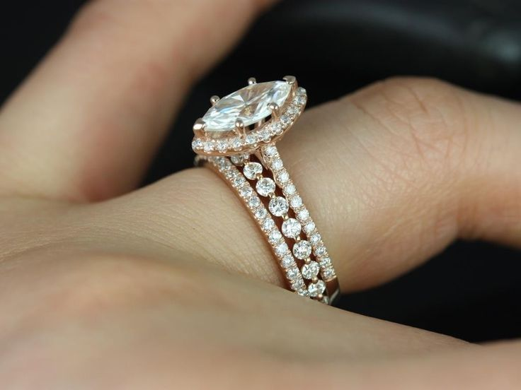 double halo marquise engagement ring - Google Search