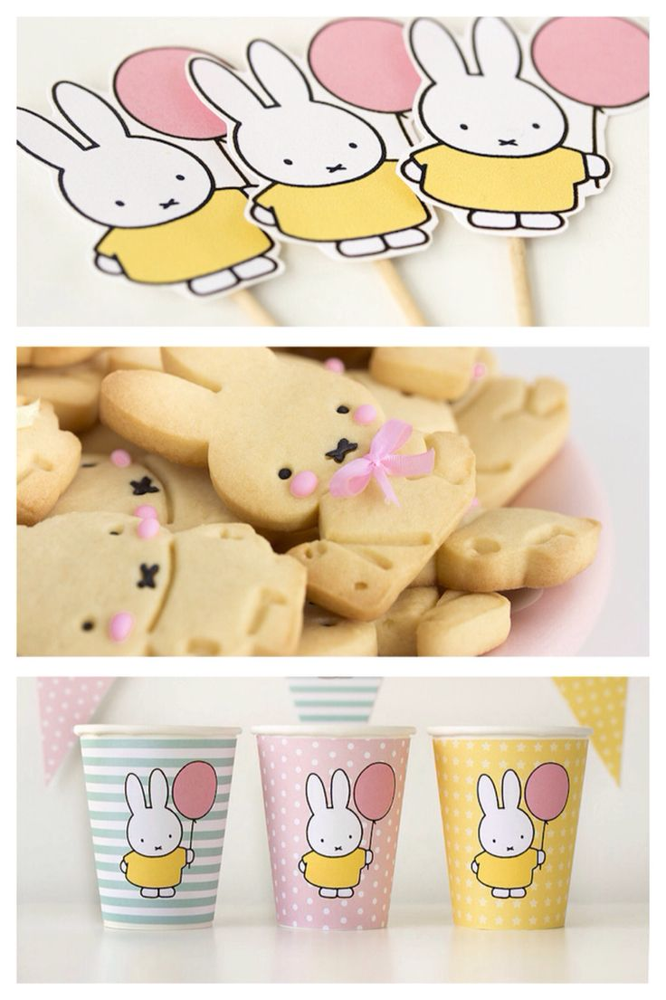 Super sweet miffy bunny themed birthday party on Kara's Party Ideas!