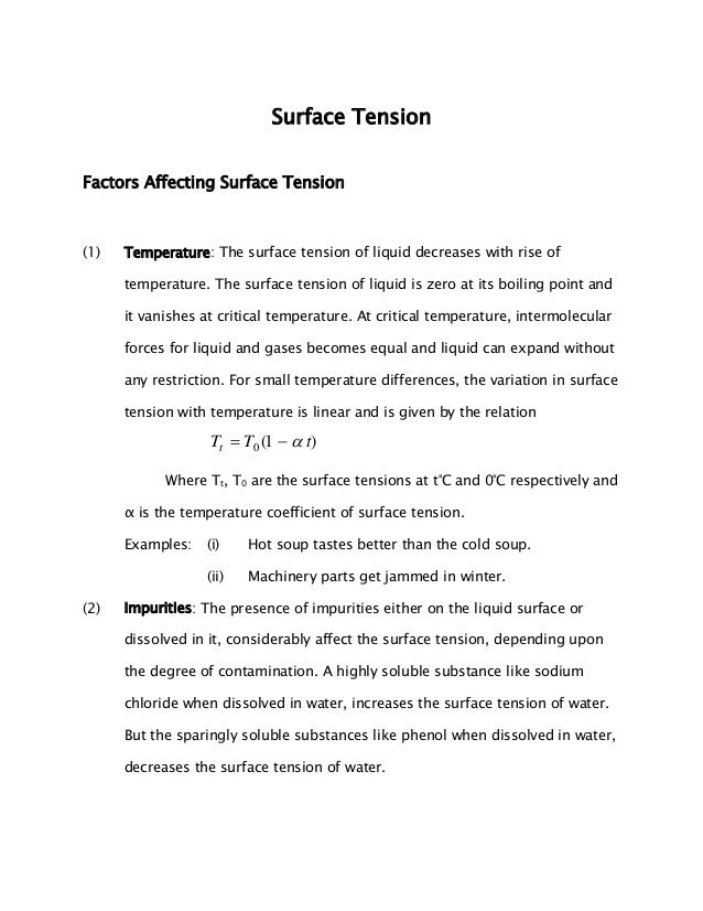 Surface Tension Notes for CET / JEE 2015 Click here to read: http://www.ednexa.com/jee-main-2015/surface-tension-notes-for-cet-jee-2015/