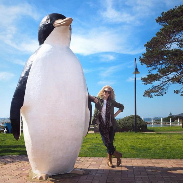 Visit a town called Penguin.