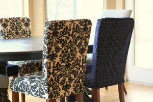 Denim Parson Chair Covers