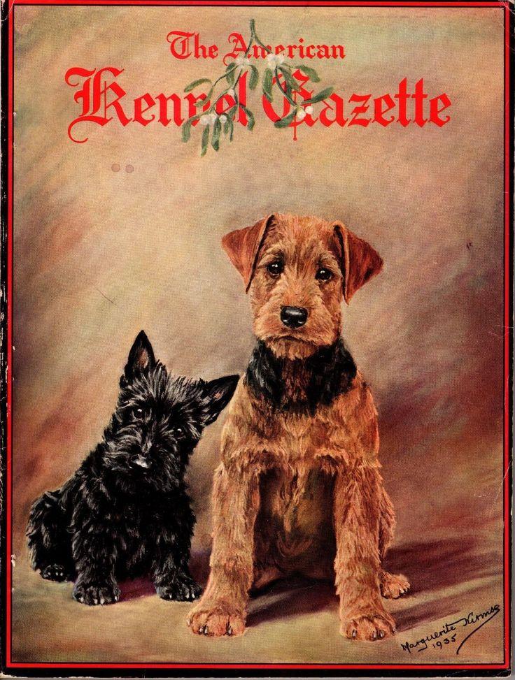 Vintage American Kennel Gazette December 1935 Kirmse Christmas Cover | eBay