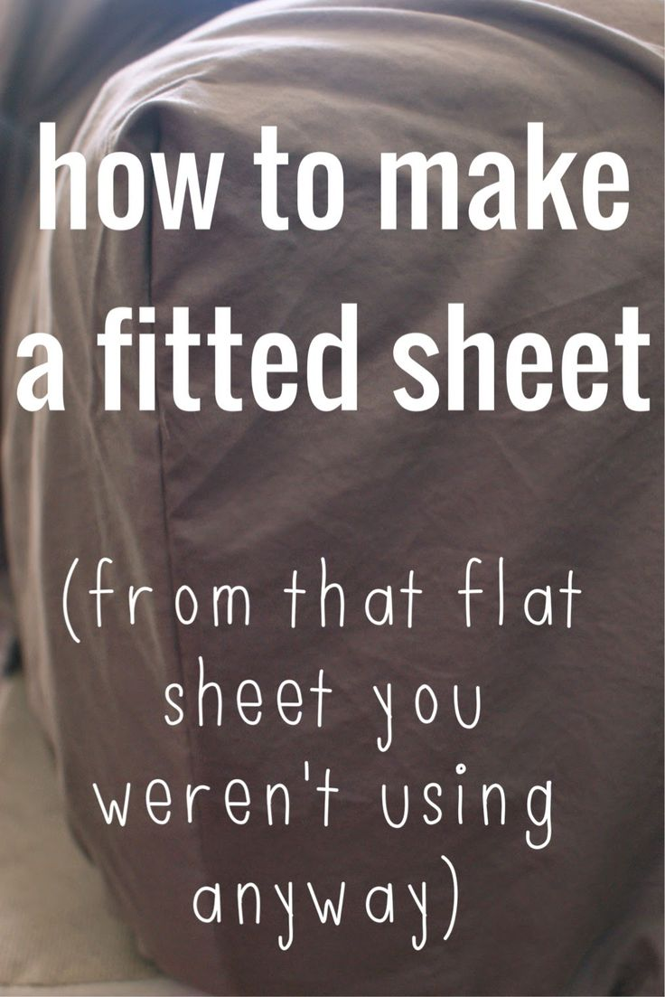 Poverty Luxe.: how to make a fitted sheet (out of that flat sheet that you werent using anyway)
