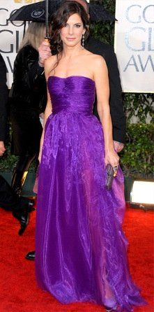 Celebrities In Ultra Violet, the Pantone Color of the Year 2018 - Sandra Bullock
