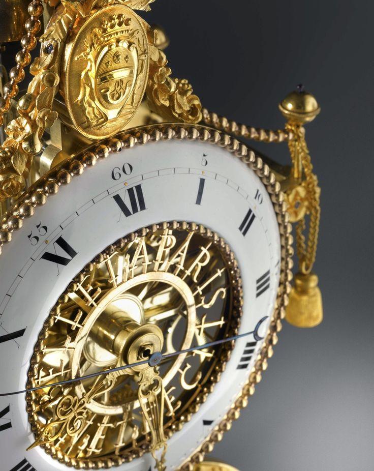 A Directoire skeleton clock, by N. J. Bellet