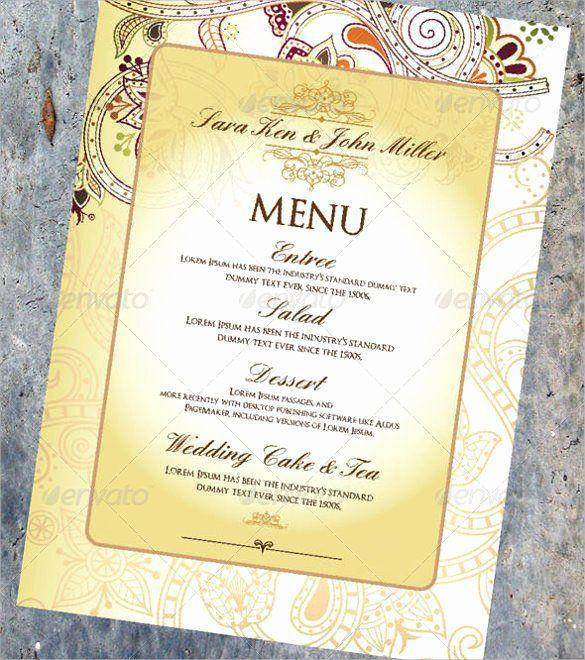 Wedding Menu Card Template Awesome Wedding Menu Template 31 Download In Pdf Psd Word Menu Card Template Wedding Menu Cards Wedding Menu Template