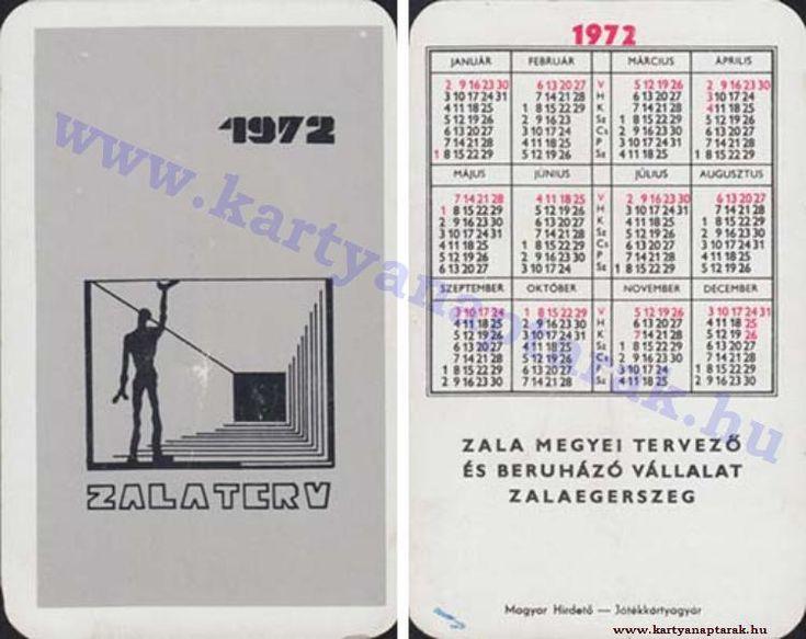 1972 - 1972_0619 - Régi magyar kártyanaptárak