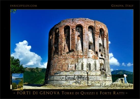 PASSEGGIATE a LEVANTE La Via dei Forti di Genova, Torre Quezzi Forte Ratti