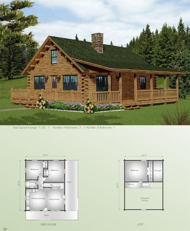 7600 best LOG CABINS images by marty decker – Cedar Log Home Floor Plans