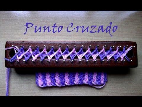 Punto Acuario en Telar Maya/ Aquarius stitch on loom - YouTube