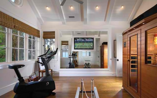 Best exercise room images on pinterest at home gym