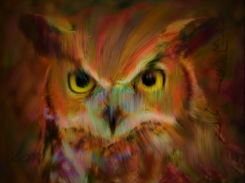 Electricowl©Art by Kami. No part of this image may be reproduced without the express written consent of the artist