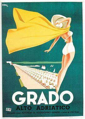 Grado - poster by Mario Puppo (1948)