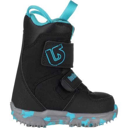 The Burton Kids' Mini Grom Snowboard Boot offers perfectly-priced comfort and performance for kids who are taking their first lesson, getting wild in the backyard, or mastering the green runs. Liner-less construction keeps it super-lightweight, while 3M Thinsulate insulation helps little toes stay toasty.