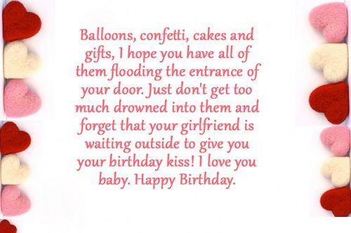 Sweet Birthday Quotes for your Boyfriend