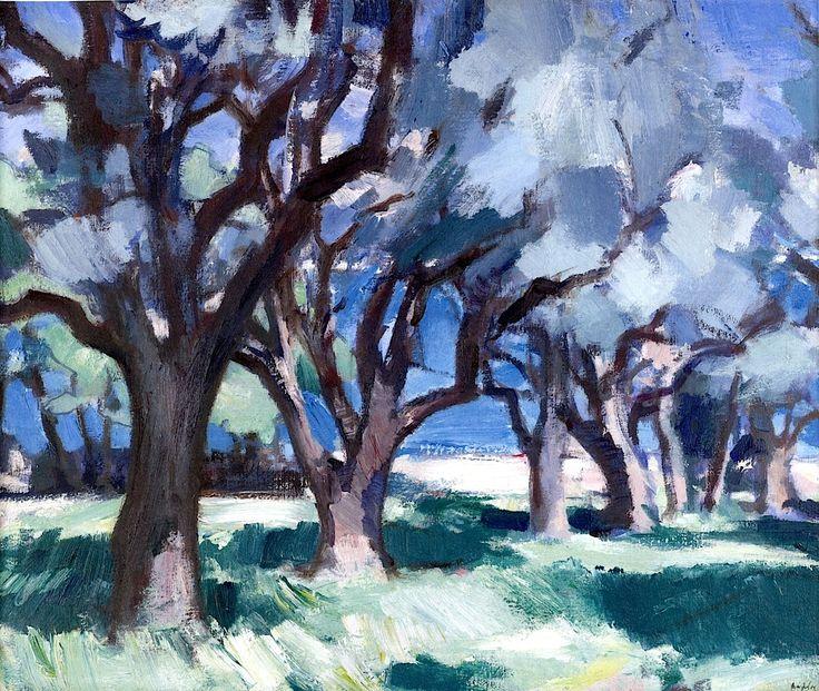 Trees, Antibes 1928