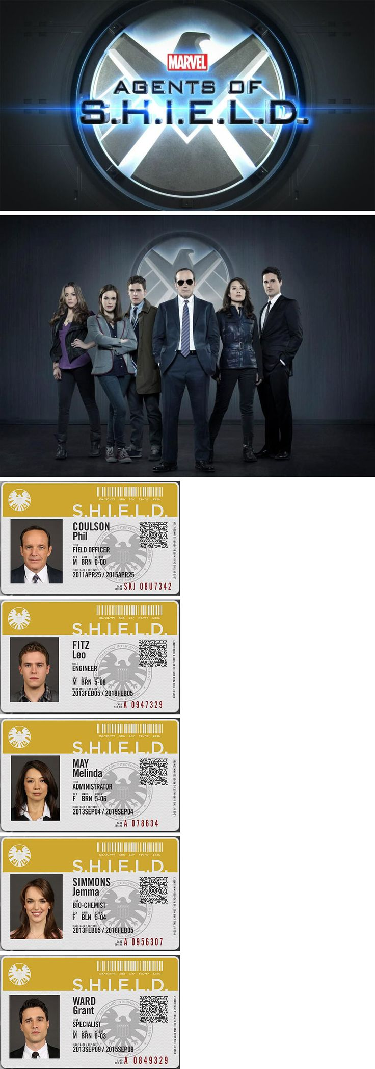 Marvel's Agent of S.H.I.E.L.D. - Phil Coulson & Melinda May & Skye & Leo Fitz & Jemma Simmons & Grant Ward