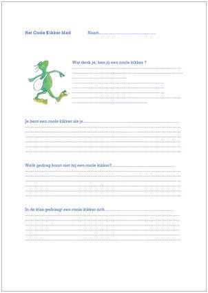 #Gedrag > Coole kikker werkblad
