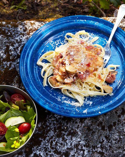 Fettuccine with Pancetta, Porcini, and Tomato | Recipe ...