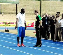 Prince Harry trolling Usain Bolt - more at http://www.thelolempire.com