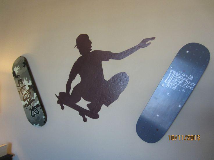 17 best images about teenage boy bedrooms on pinterest tween orange boys bedrooms and skateboard - Skateboard themed bedroom ...
