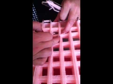 loom board pom pom blanket part 3 - YouTube