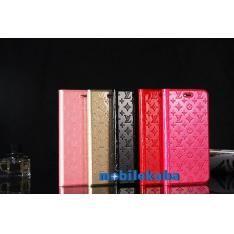 ブランドルイ ヴィトンlvロゴエンボス薄い手帳型8モノグラム8plusエナメル革つやありアイフォン8/7ケースシンプル風オシャレiphone7携帯カバー