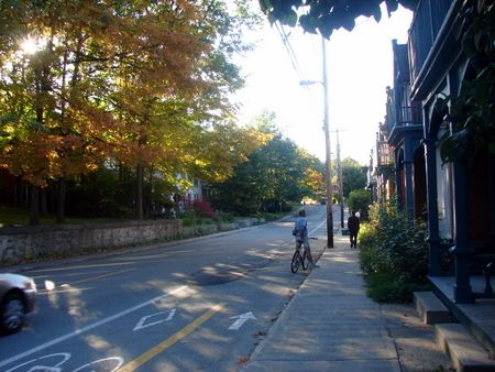 Piste cyclable, Sherbrooke, Qc