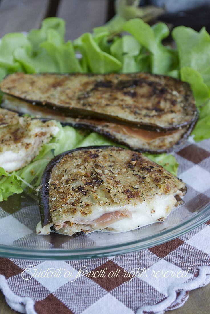 melanzane farcite crudo e mozzarella prosciutto ricetta secondo piatto gustoso cotolette ripiene