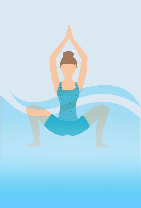 Hot tub Yoga - Crab Pose
