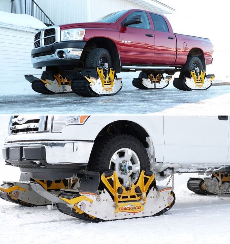 Brilliant Transformational Transportation Design: The Track N Go Converts Your Truck Into a Tread-Equipped, Snow-Going Beast in Under 15 Minutes