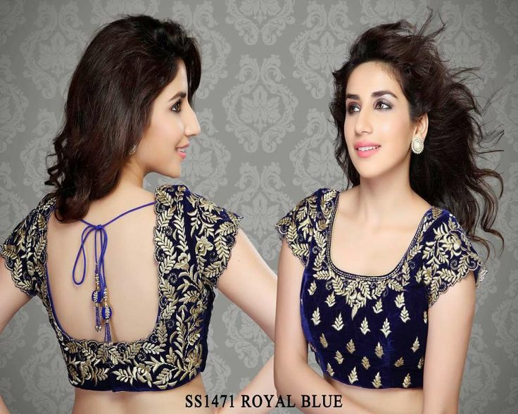 Royal Blue Velvet Fabric Embroidery Work Saree Blouse http://rajasthanispecial.com/index.php/royal-blue-velvet-fabric-embroidery-work-saree-blouse.html