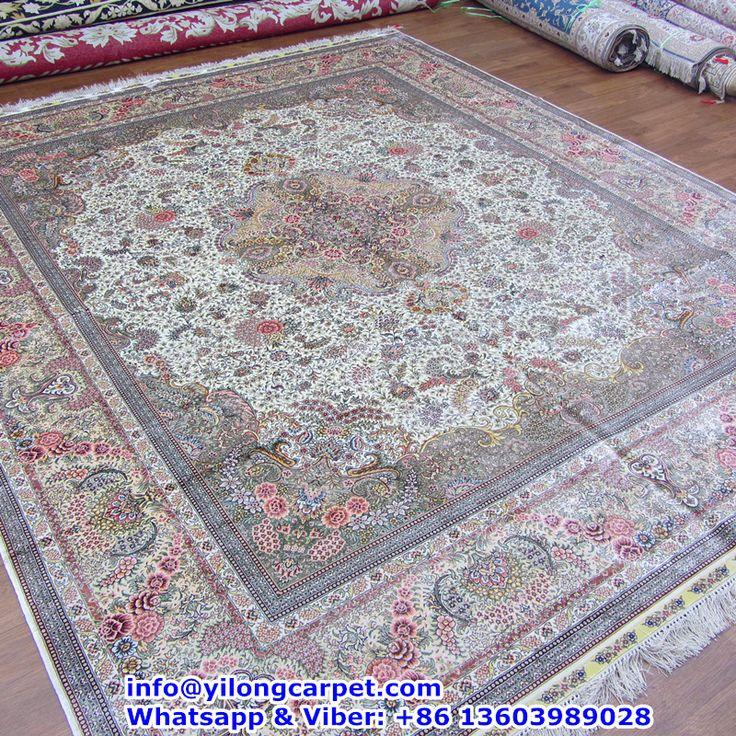 Traditional Kashmir Silk Handmade Hand Knotted Persian: 59 Best Persian Silk Carpet (400 Kpsi) Images On Pinterest