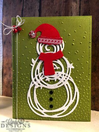 Fun snowman card made from Stampin' Up! Swirly Scribbles Thinlets and products…