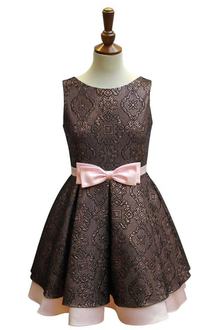 Magnificent Pink Brocade Prom Dress | David Charles Childrens Wear
