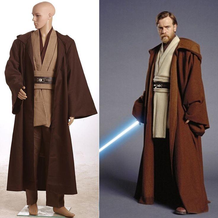 2017 New Star Wars David Kabel Costume Jedi Knight Cosplay Costume Anakin Costume Obi Wan Kenobi Halloween Hooded Cloak Robe #Affiliate