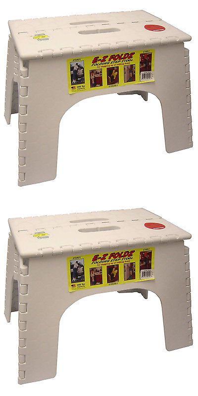 Fire Escape Ladders 159910: Bandr Plastics 103-6Wh 12 White Ez Folds Folding Step Stool -> BUY IT NOW ONLY: $33.44 on eBay!