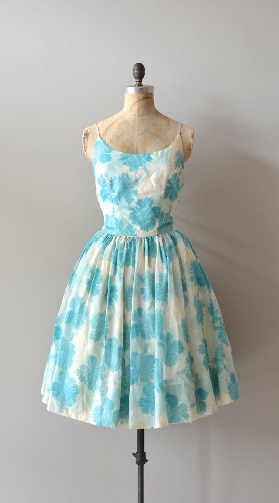 cotton 1950s dress / vintage 50s dress / Spun Mum dress
