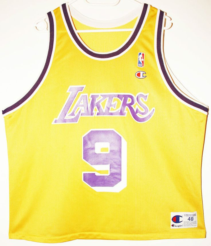 Champion NBA Basketball Los Angeles Lakers #9 Nick Van Exel Trikot/Jersey Size 48 - Größe XL - 79,90€ #nba #basketball #trikot #jersey #ebay #sport #fitness #fanartikel #merchandise #usa #america #fashion #mode #collectable #memorabilia #allbigeverything