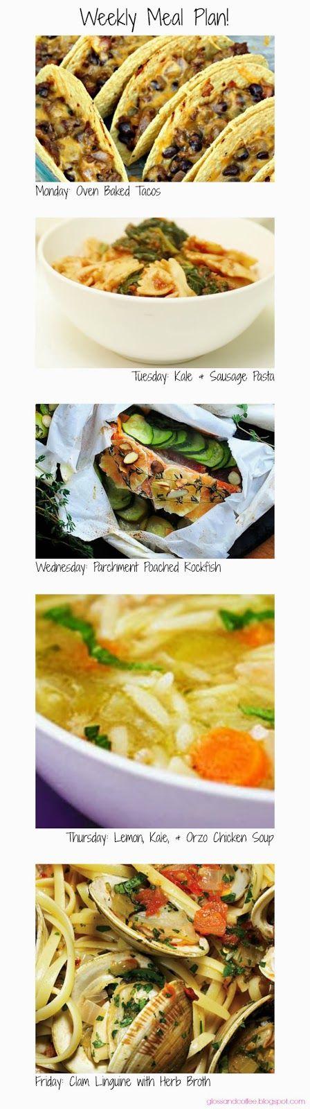 ... Poached Rockfish // Lemon, Kale, & Orzo Chicken Soup // Clam Linguine