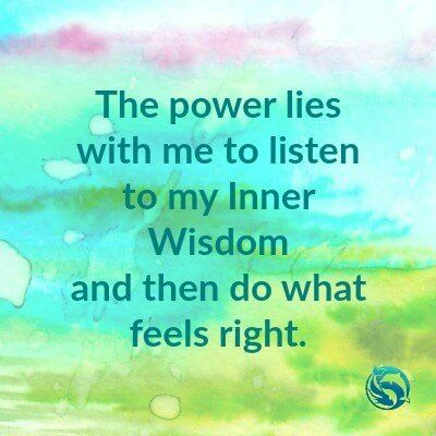 The power lies within me to listen to my Inner Wisdom and then do what feels right - Recovering Wholeness Blog - Can I Heal Myself?