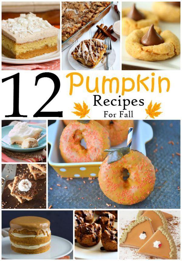 12 Pumpkin Recipes For Fall